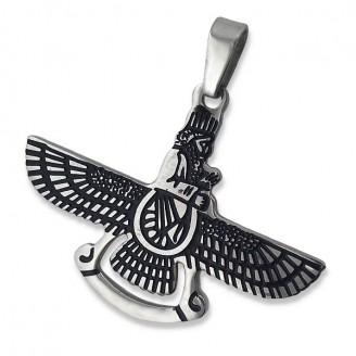 """Ocelový přívěsek z chirurgické oceli """"Amulet - ochranný duch"""""""